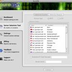Mac Serverauswahl Screenshot