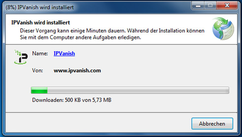 IPVanish-Software-Installat
