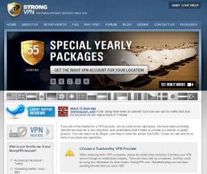 StrongVPN Screenshot
