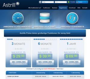 Astrill Screenshot