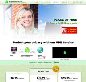 Private Internet Access Screenshot
