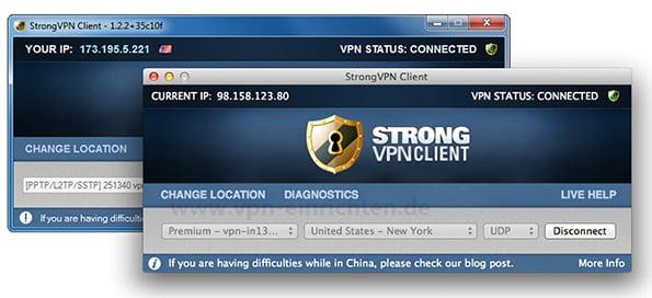 StrongVPN Windows und Mac Client